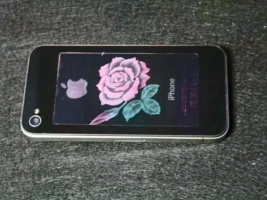 iphone 彫刻に色を付けてみました